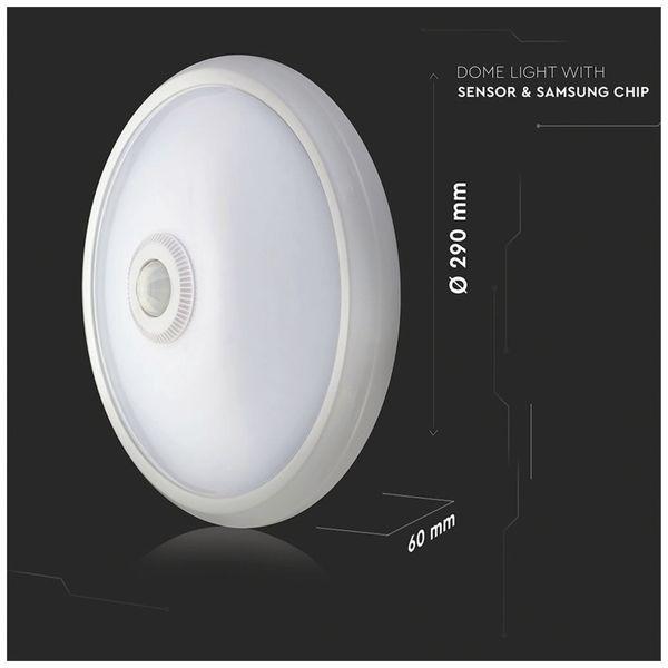 LED-Deckenleuchte VT-13(807), 12 W, 800 lm, 3000K, Bewegungsmelder, weiß - Produktbild 10