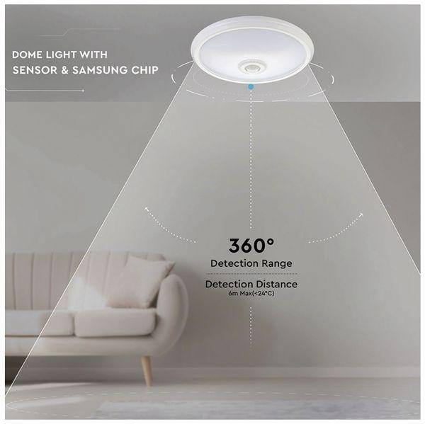 LED-Deckenleuchte VT-13(808), 12 W, 800 lm, 4000K, Bewegungsmelder, weiß - Produktbild 11