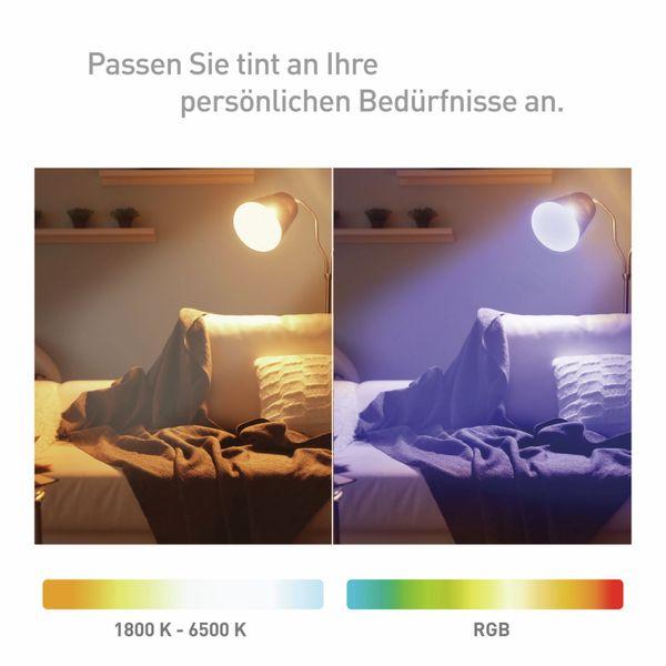 LED-Lampe TINT, E27, 10 W, 806 lm, EEK A+, Birne, RGB - Produktbild 4