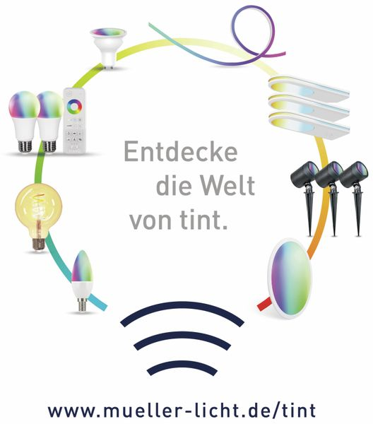 LED-Lampe MÜLLER LICHT TINT, E27, 15 W, 1520 lm, EEK A+, Globe, RGB - Produktbild 4