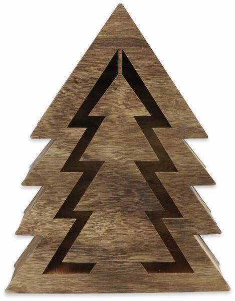Deco-Holz Baum mit 10 LEDs, GT-TT-02, dunkelbraun, B-Ware