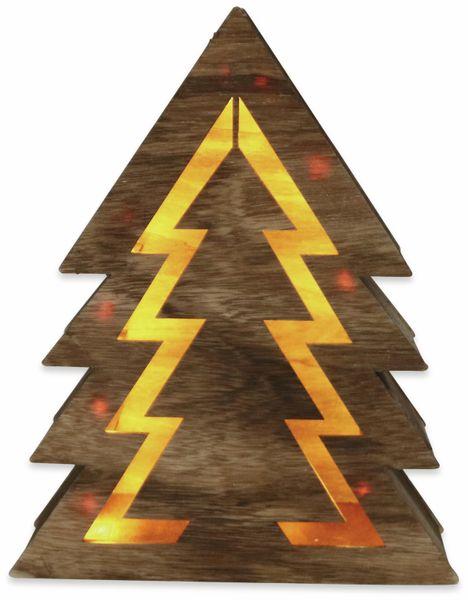 Deco-Holz Baum mit 10 LEDs, GT-TT-02, dunkelbraun, B-Ware - Produktbild 2