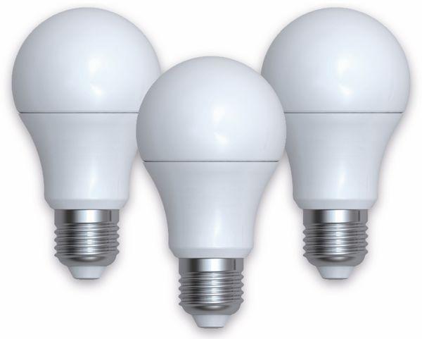 LED-Lampe DENVER SHL-340, 3 Stück, E27, 806 lm, EEK A+, Birne, WW/NW