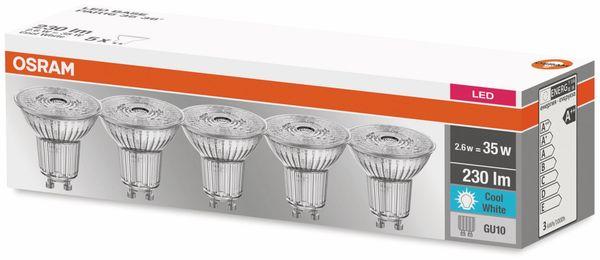 5er Set LED-Lampe, OSRAM, GU10, A++, 2,60 W, 230 lm, 4000 K - Produktbild 2