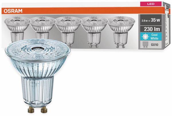 5er Set LED-Lampe, OSRAM, GU10, A++, 2,60 W, 230 lm, 4000 K - Produktbild 3