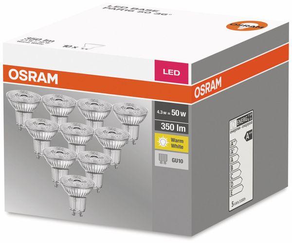 10er Set LED-Lampe, OSRAM, GU10, A++, 4,30 W, 350 lm, 2700 K - Produktbild 2