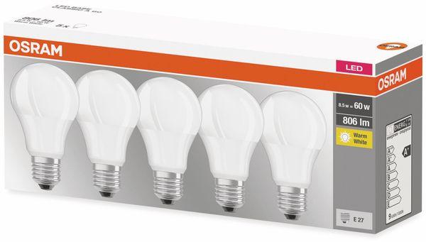 5er Set LED-Lampe, OSRAM, E27, A+, 8,50 W, 806 lm, 2700 K - Produktbild 2
