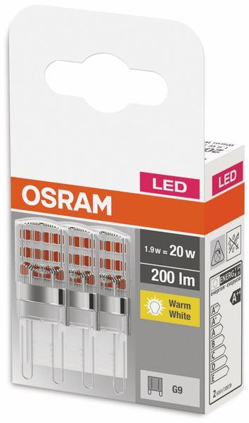 3er Set LED-Lampe, OSRAM, G9, A++, 1,90 W, 200 lm, 2700 K - Produktbild 2