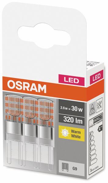 3er Set LED-Lampe, OSRAM, G9, A++, 2,60 W, 320 lm, 2700 K - Produktbild 2