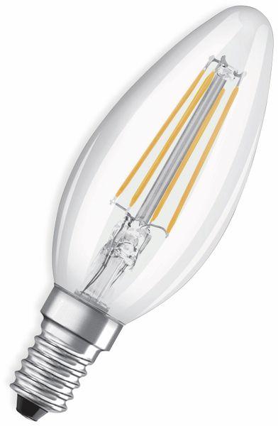 LED-Lampe, OSRAM, E14, A+, 5,00 W, 470 lm, 2700 K