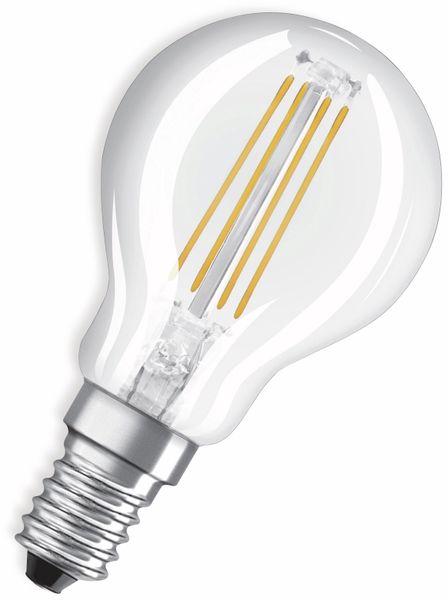 LED-Lampe, OSRAM, E14, A++, 4,00 W, 470 lm, 2700 K