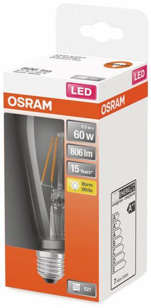 LED-Lampe, OSRAM, E27, A++, 6,50 W, 806 lm, 2700 K - Produktbild 2