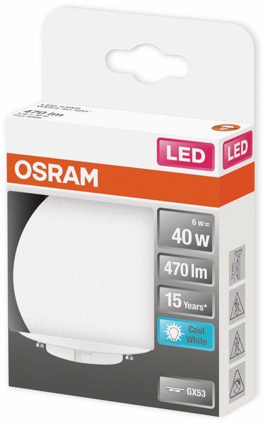 LED-Lampe, OSRAM, GX53, A+, 6,00 W, 470 lm, 4000 K - Produktbild 2