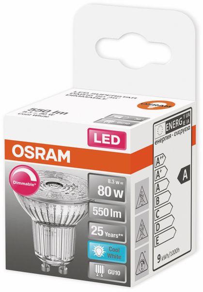 LED-Lampe, OSRAM, GU10, A, 8,30 W, 550 lm, 4000 K - Produktbild 2