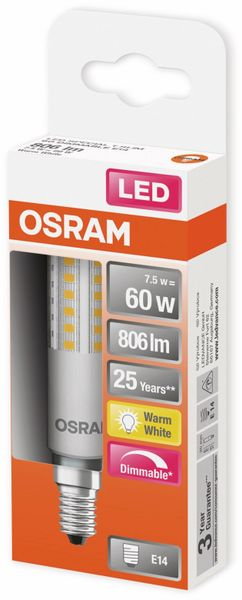 LED-Lampe, OSRAM, E14, A+, 7,50 W, 806 lm, 2700 K - Produktbild 2