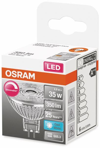 LED-Lampe, OSRAM, GU5.3, A+, 4,90 W, 350 lm, 4000 K - Produktbild 2