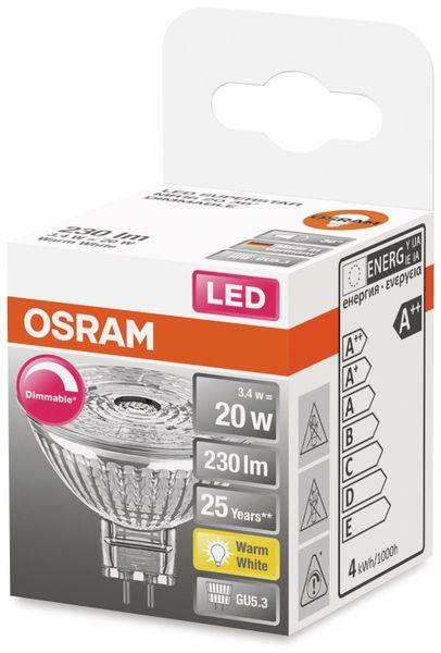 LED-Lampe, OSRAM, GU5.3, A+, 3,40 W, 230 lm, 2700 K - Produktbild 2