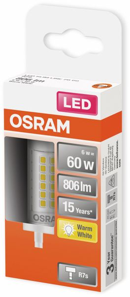 LED-Lampe, OSRAM, R7s, A++, 6,00 W, 806 lm, 2700 K - Produktbild 2