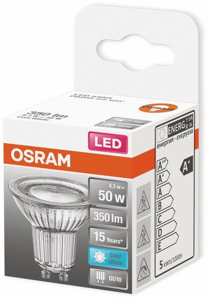 LED-Lampe, OSRAM, GU10, A+, 4,30 W, 350 lm, 4000 K - Produktbild 2