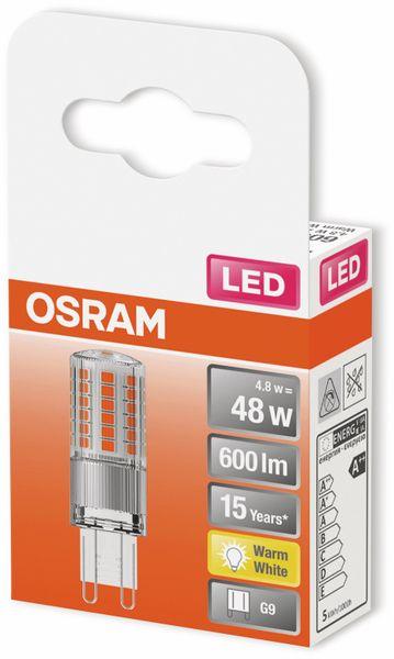 LED-Lampe, OSRAM, G9, A++, 4,80 W, 600 lm, 2700 K - Produktbild 2