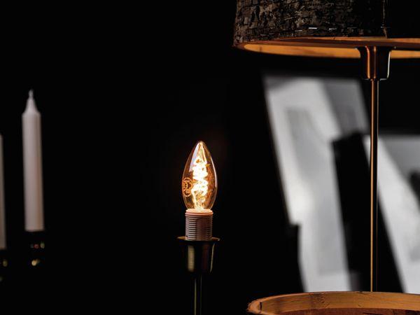 LED-Lampe, BLULAXA Vintage flex Filament, C35, 2,5W, 500lm, 1800K, gold - Produktbild 2