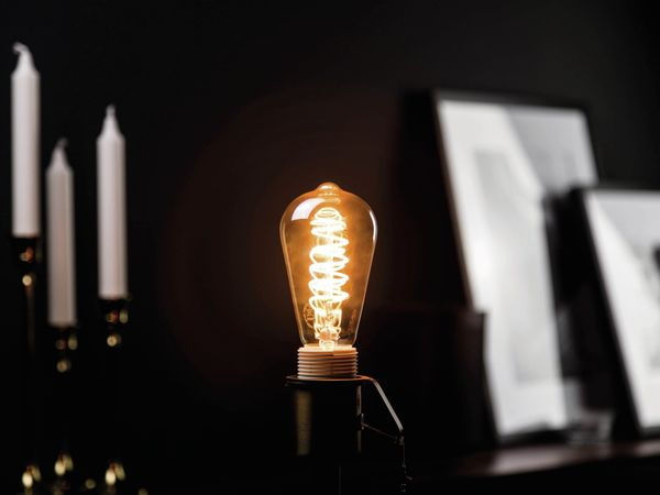 LED-Lampe, BLULAXA Vintage flex Filament, ST64, 5W, 250lm, 1800K, gold - Produktbild 2