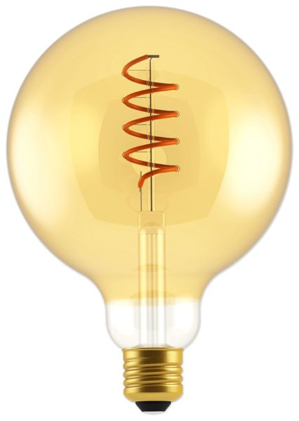 LED-Lampe, BLULAXA Vintage flex Filament, EEK: A, G125, 5W, 250lm, 1800K, gold