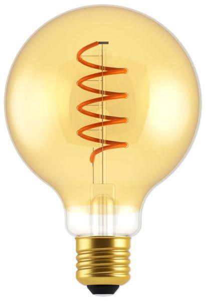 LED-Lampe, BLULAXA Vintage flex Filament, EEK: A, G95, 5W, 250lm, 1800K, gold
