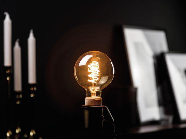 LED-Lampe, BLULAXA Vintage flex Filament, EEK: A, G95, 5W, 250lm, 1800K, gold - Produktbild 2