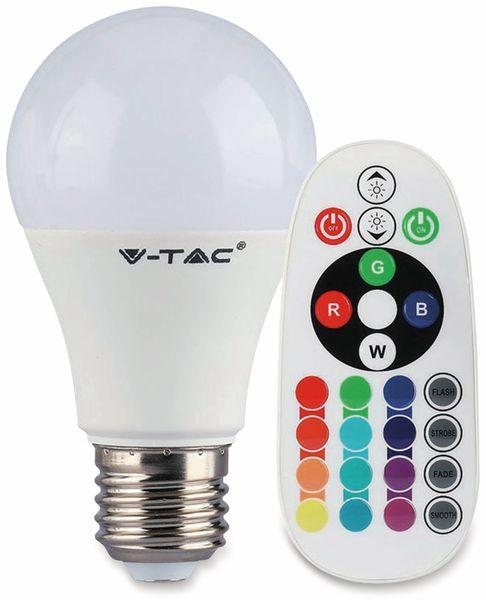 LED-Lampe V-TAC VT-2229 (2766), E27, 9 W, EEK: A+, 806 lm, RGB, mit Fernbedienung