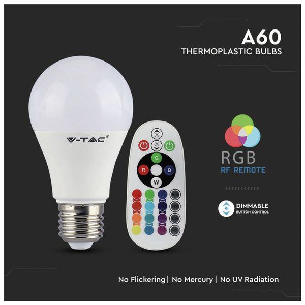 LED-Lampe V-TAC VT-2229 (2766), E27, 9 W, EEK: A+, 806 lm, RGB, mit Fernbedienung - Produktbild 4