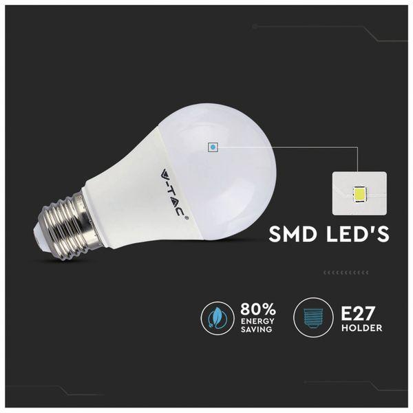 LED-Lampe V-TAC VT-2229 (2766), E27, 9 W, EEK: A+, 806 lm, RGB, mit Fernbedienung - Produktbild 5