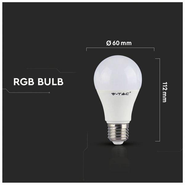 LED-Lampe V-TAC VT-2229 (2766), E27, 9 W, EEK: A+, 806 lm, RGB, mit Fernbedienung - Produktbild 6