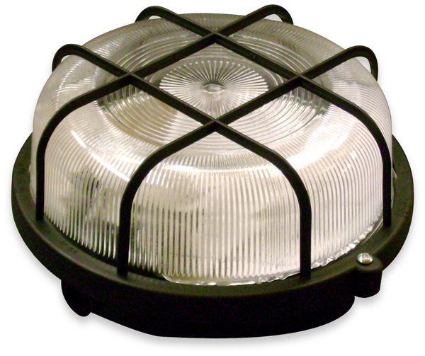 Feuchtraumleuchte, MÜLLER-LICHT, 20300035, RUND Leuchte + Schutzkorb, schwarz