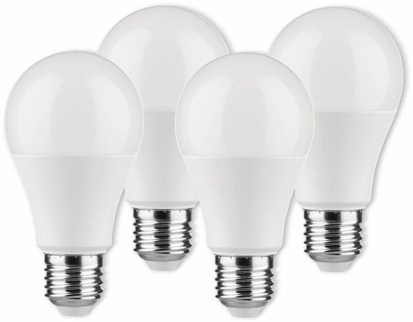 LED-Lampe Birnenform, MÜLLER-LICHT, 400255, 3+1 Set, E27, 9W, matt
