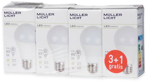 LED-Lampe Birnenform, MÜLLER-LICHT, 400255, 3+1 Set, E27, 9W, matt - Produktbild 4