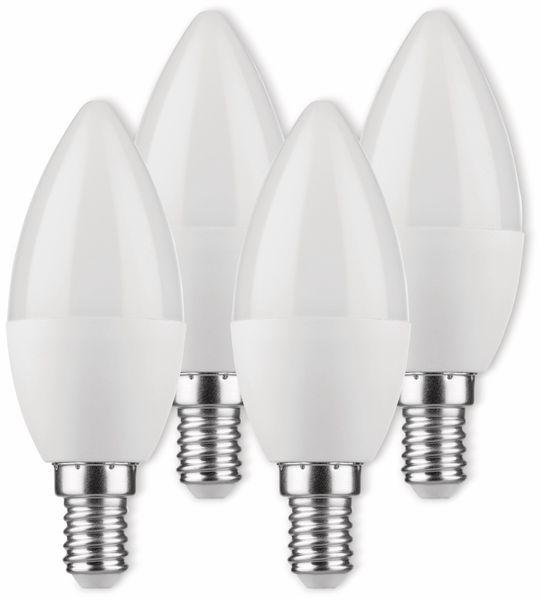 LED-Lampe, Kerzenform, MÜLLER-LICHT, 400256, 3+1 Set, E14, 3W, matt