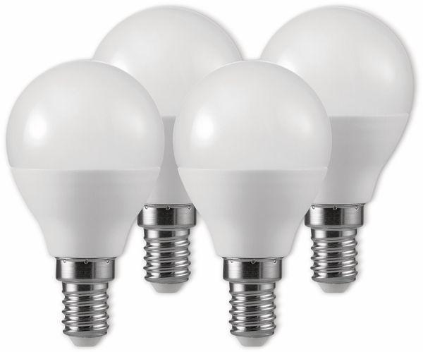LED-Lampe, Tropfenform, MÜLLER-LICHT, 400257, 3+1 Set, E14 3W, matt