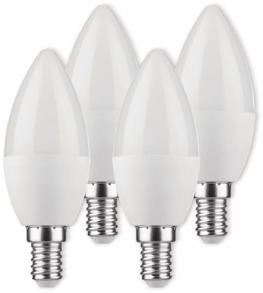 LED-Lampe, Kerzenform, MÜLLER-LICHT, 400258, 3+1 Set, E14, 5.5W, matt