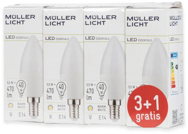 LED-Lampe, Kerzenform, MÜLLER-LICHT, 400258, 3+1 Set, E14, 5.5W, matt - Produktbild 5