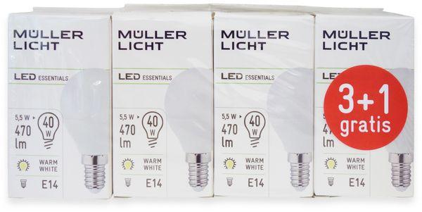 LED-Lampe, Tropfenform, MÜLLER-LICHT, 400259, 3+1 Set, E14, 5.5W, matt - Produktbild 4