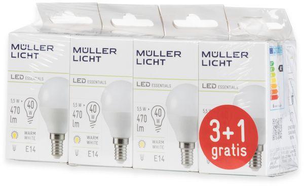 LED-Lampe, Tropfenform, MÜLLER-LICHT, 400259, 3+1 Set, E14, 5.5W, matt - Produktbild 5