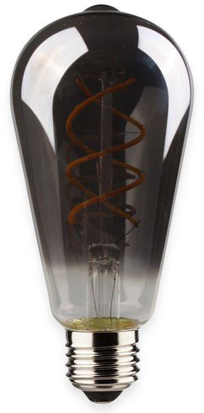 LED-Lampe, ST64, MÜLLER-LICHT, 400452, Flex, E27, 2000K, smoked, grau