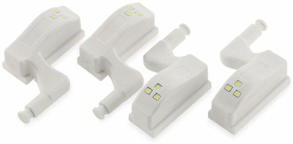 LED-Schrankleuchte CHILITEC 23106, 4er-Set, 6000K, weiß - Produktbild 2