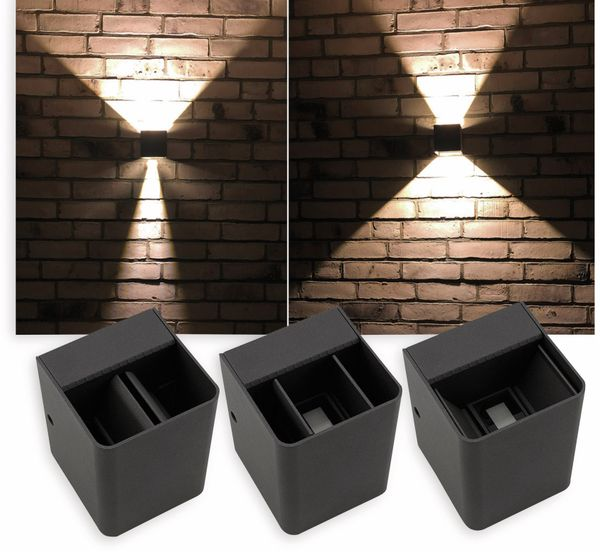LED Wandleuchte CHILITEC Fachada, 3000K, EEK: A, 2x3 W, 300 lm, IP54 - Produktbild 4