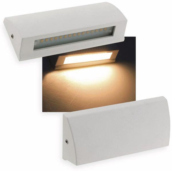 LED-Leuchte CHILITEC Barcas 6, EEK: A, 7 W, 340 lm, 3000K, IP54, weiß