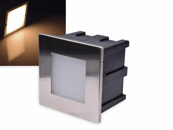 LED-Einbauleuchte CHILITEC Cuadrado Eco, EEK: A+, 1,5 W, 38 lm, 3000K, 80x80 mm