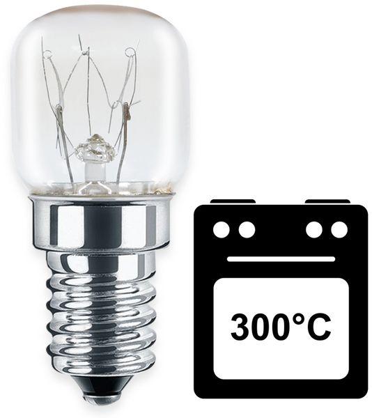 AGL Backofenlampe BLULAXA, T22, E14, 15 W, 300°C, 90 lm, 2400K, 22x48 mm - Produktbild 2