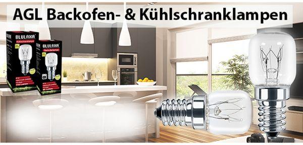 AGL Backofenlampe BLULAXA, T22, E14, 15 W, 300°C, 90 lm, 2400K, 22x48 mm - Produktbild 5