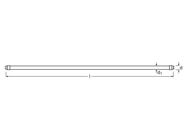 LED-Röhre OSRAM Substitube Advanced HF, G13, EEK: A++, 21 W, 3150 lm, 150 cm, 4000 K, EVG - Produktbild 3